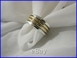 14K Gold James Avery Sterling Silver Band Ring Size 8 3/4