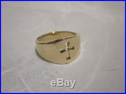 14K James Avery Cross Gold Wide Crosslet Band Ring Size 9 (10.9 g)