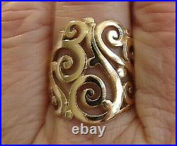 14K YELLOW GOLD JAMES AVERY Open Sorrento SCROLL RING 7.1 GR SIZE 8.5