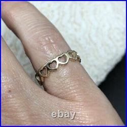 14k Gold James Avery Tiny Hearts Band Size 5 Womens Pinky Ring