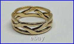 14k Yellow Gold JAMES AVERY Size 5 Braided Tresse Ring Band FREE SHIPPING