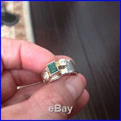 Amazing Custum Made James Avery Emerald/diamond Ring