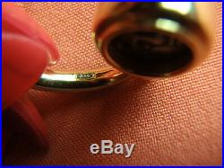 Ancient Coin 18k Yellow Gold Flip Ring 9.5 Gram Size 6