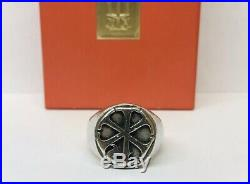 BOLD RETIRED James Avery 925 Sterling Silver Chi Rho Mens RING size 9.5