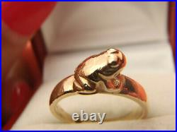 Beautiful James Avery Vintage 14k Gold Frog Toad Ring Retired Rare