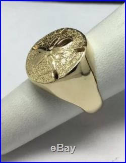 Beautiful Super Rare James Avery 14K Gold Sand Dollar ring. Heavy 12.3 Grams