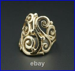 Designer James Avery 14k Yellow Gold Open Sorrento Ring Size 7 RG-538 RG2761