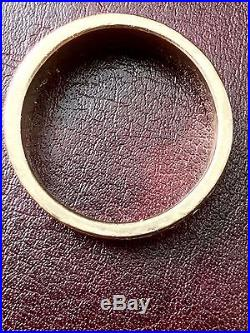 (HEAVY) 15.3 grams James Avery Song of Solomon 14K Gold mens ring size 11