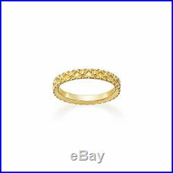 JAMES AVERY 14K GOLD CARVED FLORAL FLOWER BAND RING SIZE 5 NEW with BOX, POUCH