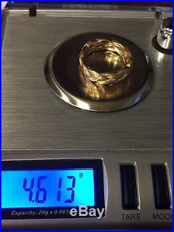 JAMES AVERY 14K GOLD FRIENDSHIP WOVEN BAND RING SIZE 5.0 4.613 Gr. RARE RETIRED