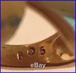 JAMES AVERY 14K GOLD HANDS RING With DIAMOND RETIRED SZ 5 JA BOX + XTRAS