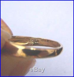 JAMES AVERY 14K Gold Verona Diamond Emerald Ring Size 5.75