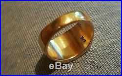 JAMES AVERY 14K SOLID YELLOW GOLD GREEK CROSS RING, SIZE 9, HEAVY
