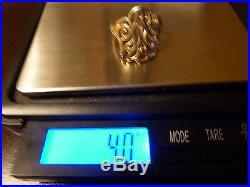 JAMES AVERY 14K YELLOW GOLD OPEN DESCENDING DOVE RING SIZE 8.5 RETIRED 4.0 GRAMS