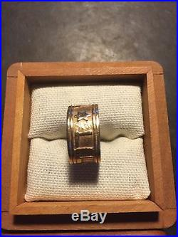 JAMES AVERY 14K Y GOLD SONG OF SOLOMON WOMAN'S RING / BAND SIZE 6.5 GRAMS 8.1