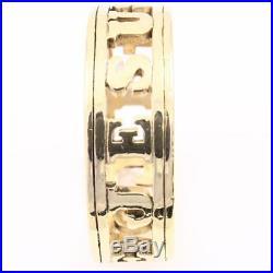 JAMES AVERY 14K Yellow Gold I LOVE JESUS Men's BAND Ring Sz 12.25 Retired
