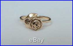 JAMES AVERY 14K Yellow Gold ROSE Ring Size 4-1/2