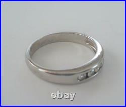 JAMES AVERY 18K Pallidum White Gold & Diamond DEBRA Ring Size 5-1/2