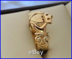 JAMES AVERY ADORNED CLADDAGH RING 14k yellow Gold Size 6 1/2