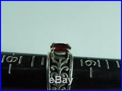 JAMES AVERY Adoree Sterling Silver 925 Ring Red Garnet Size 7