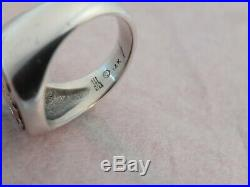 JAMES AVERY Alpha & Omega Ring 14k gold and Sterling Silver size 7.5