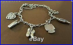 JAMES AVERY CHARM BRACELET WITH 6 JAMES AVERY CHARMS! +++PINKIE RING SZ. 5