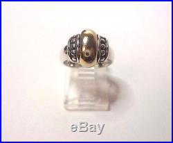 JAMES AVERY DOME RING 14k Gold & Sterling Silver Size 4 1/2 RETIRED