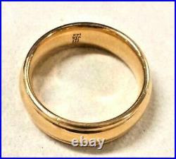 JAMES AVERY Eternal Band Ring 14K Yellow Gold Size 7 Wedding WB-54