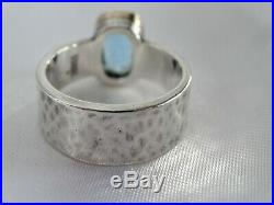 JAMES AVERY Graciela Ring with Blue Topaz Sterling and 14k gold Silver Size 6