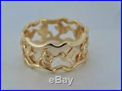 JAMES AVERY Hummingbird 14k yellow gold ring size 8.5