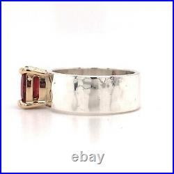 JAMES AVERY JULIETTA Ring GARNET 14K GOLD & Sterling Silver Size 5.5