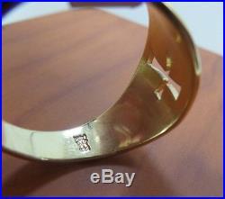 James Avery Mens Narrow Crosslet Ring 14 K Yellow Gold 7.00 Grams