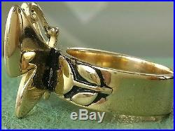 JAMES AVERY RETIRED 14K Mariposa Butterfly Ring Size 8.5