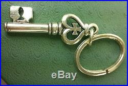 JAMES AVERY RETIRED Key to my HEART Key Ring or PENDANT solid SILVER