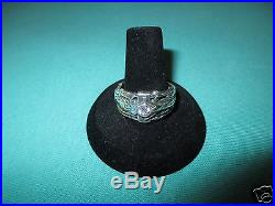 JAMES AVERY RETIRED SIZE 10 MARTIN LUTHER DIAMOND AND STERLING SILVER RING