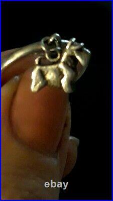 JAMES AVERY RETIRED STERLING SILVER SCOTTISH TERRIER DANGLE RING Size 8