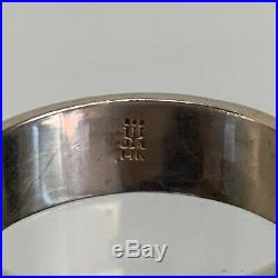 JAMES AVERY RING 14k GOLD'AMORE' HAND HAMMERED WEDDING BAND Size 9.50 5.7 Gram