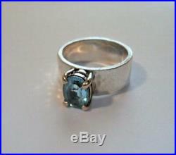 JAMES AVERY Sterling Silver, 14K Gold & Blue Topaz Julietta Ring Size 5
