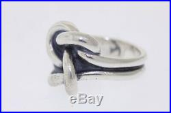 JAMES AVERY Sterling Silver Bold Lovers Knot Ring Size 7.5 16.7mm Wide