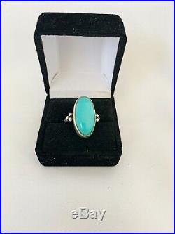 JAMES AVERY Sterling Silver CLASSIC OVAL TURQUOISE Ring Size 7 Retiring Soon #48