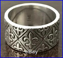 JAMES AVERY Sterling Silver RETIRED Fleur-De-Lis Band Ring (size 7.5)