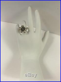 JAME AVERY 18K / Sterling Silver Flower Ring Size 6.5 6g RETIRED