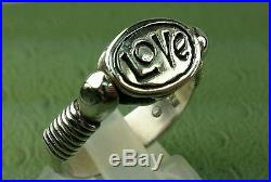 James AVERY RETIRED Love / Beetle Rotating RING RARE SIZE 7