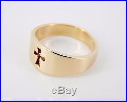 James Avery 14K Crosslet Ring Size 6