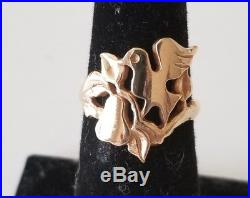 James Avery 14K Dove in a Pear Tree Ring Size 6.25 RARE and Retired