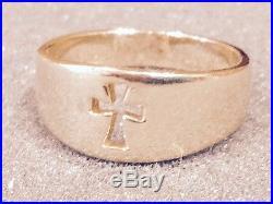 James Avery 14K Gold Cross Ring