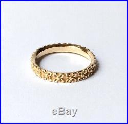 James Avery 14K Gold Delicate Blossom Eternity Band Ring, Wedding / Stacker 7.25