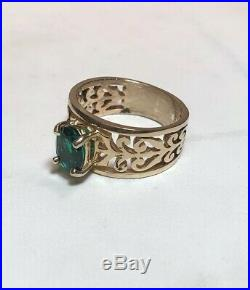 James Avery 14K Gold Emerald Adoree Ring Size 6 1/2