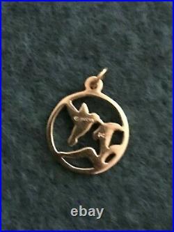 James Avery 14K Gold Hummingbird Circle Charm or Pendant w Jump Ring Retired