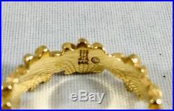 James Avery 14K Gold Margarita Daisy Ring 4.8 Grams Size 6.5